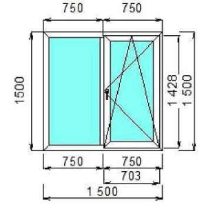 Сколько стоит двустворчатое окно
