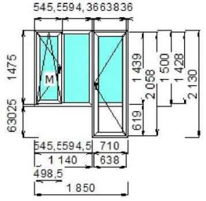 Сколько стоит окно с балконной дверью