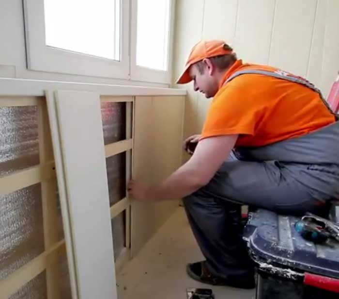 Отделка балкона панелями пвх своими руками видео фото 9