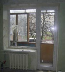 Балконные двери Rehau