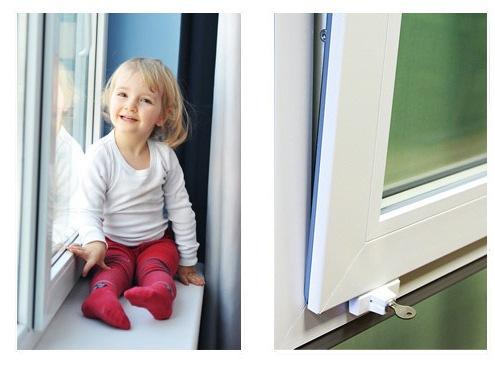 Виды защиты на пластиковые окна для безопасности детей