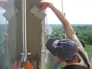 Отделка внешних откосов цементом
