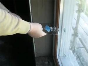 Откосы на окнах с помощью штукатурки