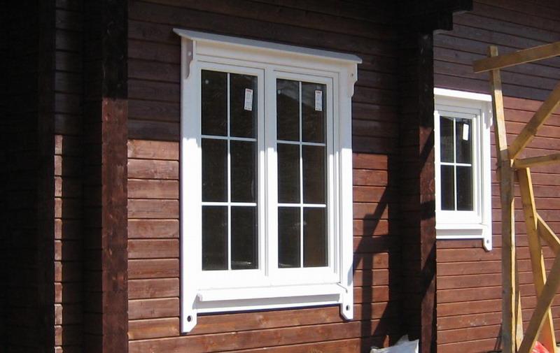 Наличники для пластиковых окон в деревянном доме