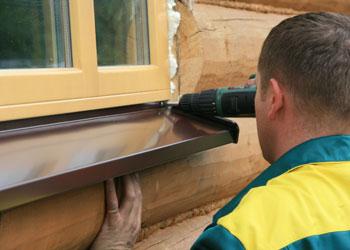 Отливы для пластиковых окон в деревянном доме своими руками