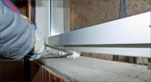 Герметизация стыка и оконной рамы