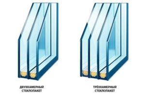 двух или трехкамерные стеклопакеты