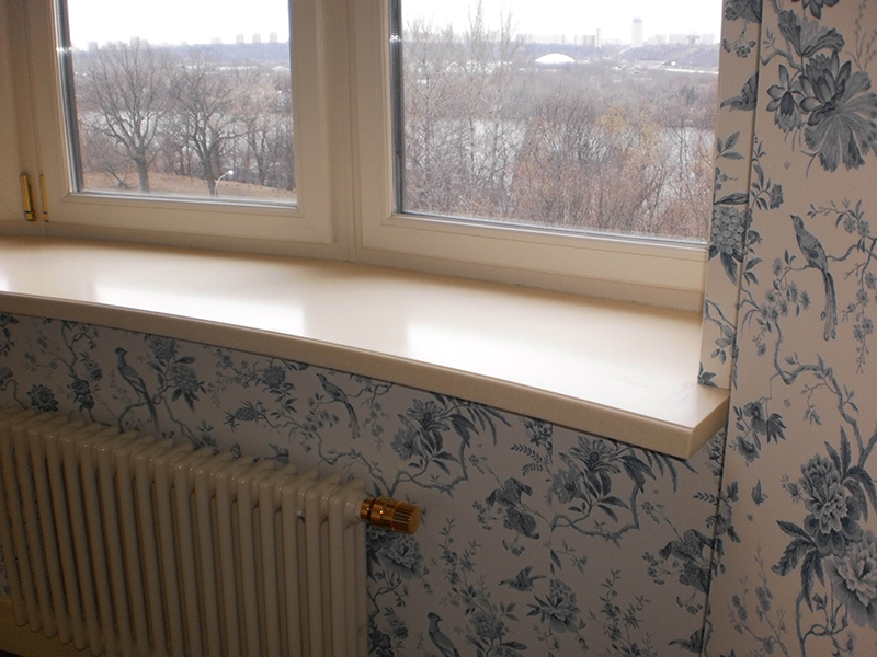 Как поставить подоконник к пластиковому окну?