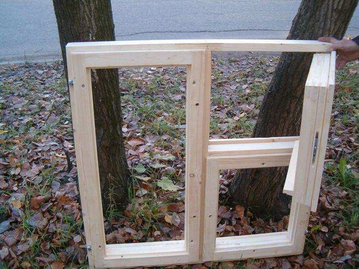 Деревянное простое окно своими руками-Dveri-Ceny.ru